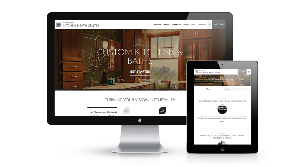 Diane And Bruno At CT Kitchen U0026 Bath Center Approached Us To Do Branding  And A Website For Their New Showroom And Design Center. It Needed To Be  Elegant And ...